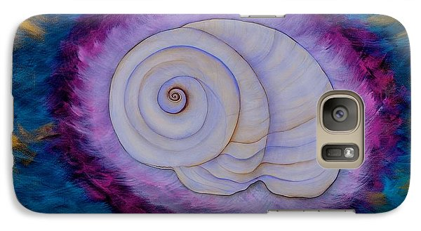 Galaxy Case featuring the painting Moon Snail by Deborha Kerr