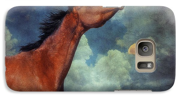 Galaxy Case featuring the photograph Moon Song by Karen Slagle