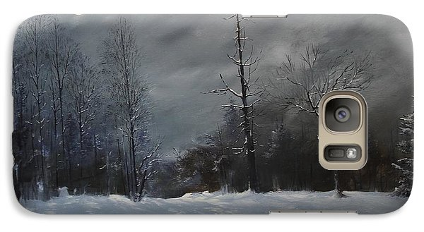 Galaxy Case featuring the painting Moon Struck by Ken Ahlering