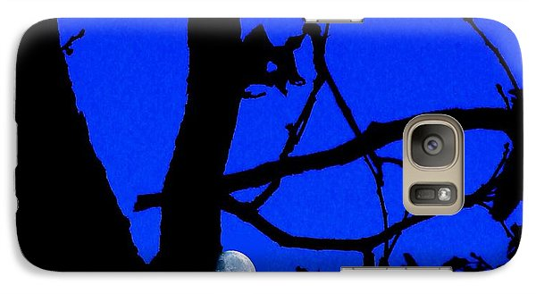 Galaxy Case featuring the photograph Moon Through Trees 2 by Janette Boyd