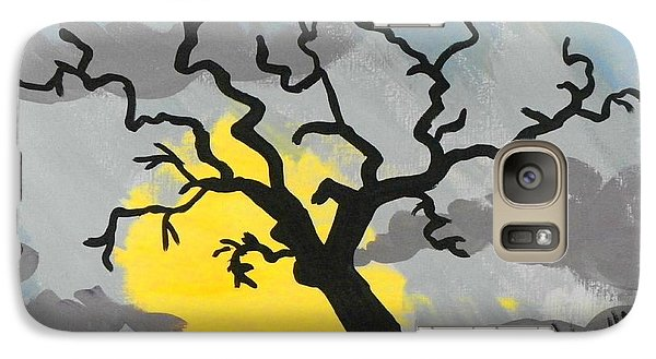 Galaxy Case featuring the painting Moon Tree by Marisela Mungia
