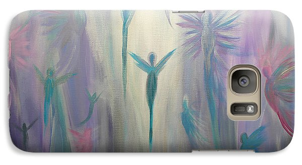 Galaxy Case featuring the painting Moonlight Angels by Stacey Zimmerman