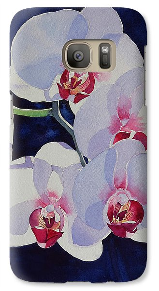 Galaxy Case featuring the painting Moonlight Dance by Judy Mercer
