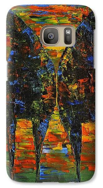 Galaxy Case featuring the painting Moonlight Horses by Jennifer Godshalk