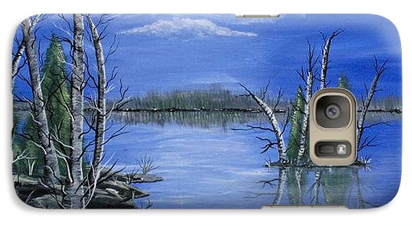 Galaxy Case featuring the painting Moonlight Mist by Brenda Brown