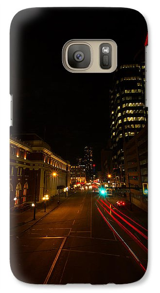 Galaxy Case featuring the photograph Moonlight Over The City by Haren Images- Kriss Haren