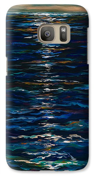 Galaxy Case featuring the painting Moonlight Reflection by Linda Olsen