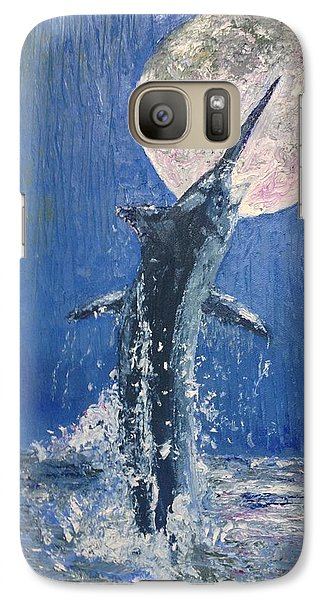 Galaxy Case featuring the painting Moonlight by Stan Tenney
