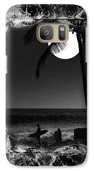 Galaxy Case featuring the photograph Moonlight Surf by Athala Carole Bruckner