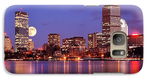 Galaxy Case featuring the photograph Moonlit Boston On The Charles by Mitchell R Grosky