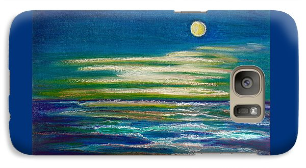 Galaxy Case featuring the painting Moonlit Tide by D Renee Wilson