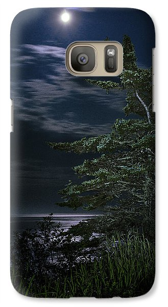 Galaxy Case featuring the photograph Moonlit Treescape by Marty Saccone
