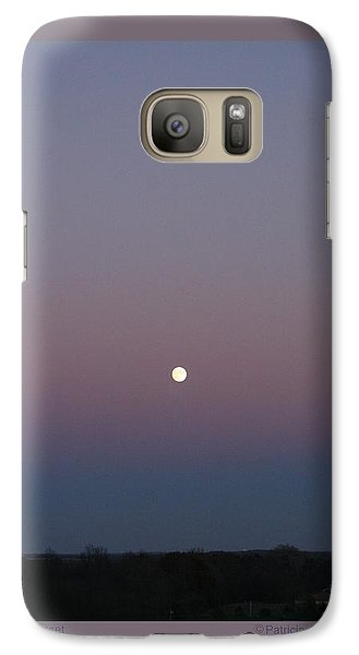 Galaxy Case featuring the photograph Moonrise At Sunset by Patricia Overmoyer