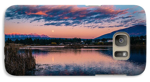 Galaxy Case featuring the photograph Moonrise Cranbrook Baker Mountain by Rob Tullis