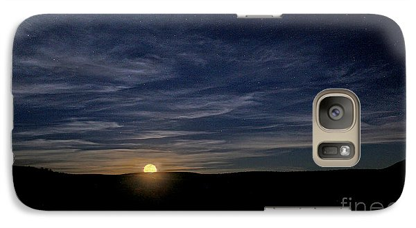 Galaxy Case featuring the photograph Moonrise In New Mexico by Martin Konopacki
