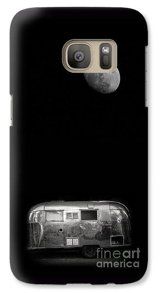 Moonrise Over Airstream Galaxy S7 Case