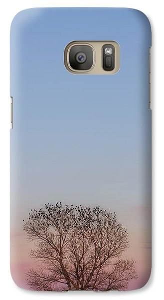 Galaxy Case featuring the photograph Moonrise Over Blackbirds by Rob Graham