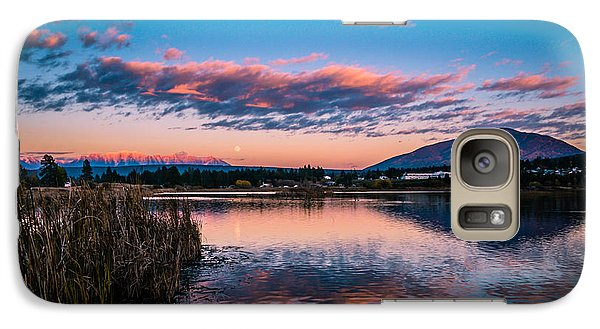 Galaxy Case featuring the photograph Moonrise Over Elizabeth Lake by Rob Tullis