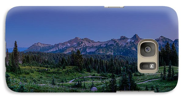 Galaxy Case featuring the photograph Moonrise Over Tatoosh by Chris McKenna