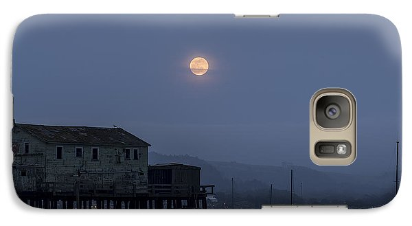 Moonrise Over The Harbor Galaxy S7 Case