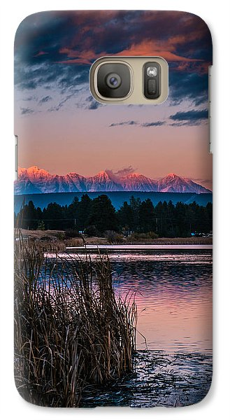 Galaxy Case featuring the photograph Moonrise Rocky Moutains by Rob Tullis