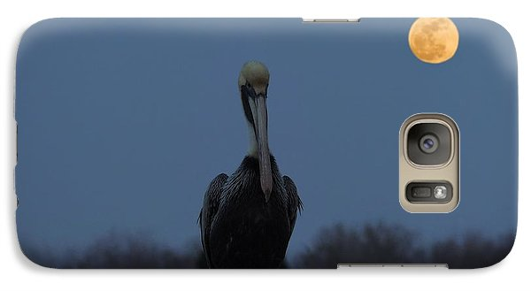 Galaxy Case featuring the photograph Moon's Up by Laura Ragland