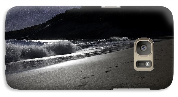Galaxy Case featuring the photograph Moonshine Beach by Brent L Ander