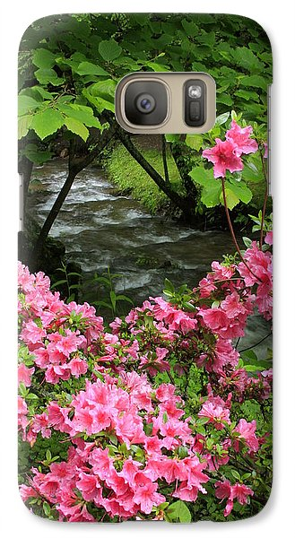 Galaxy Case featuring the photograph Moonshine Creek Rhododendron Bloom - North Carolina by Mountains to the Sea Photo