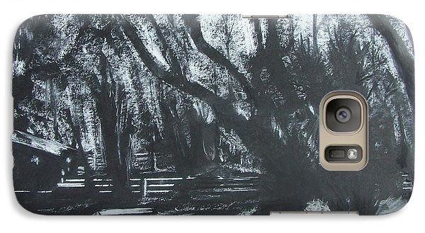Galaxy Case featuring the drawing Moonshine by Mary Lynne Powers