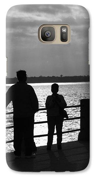 Galaxy Case featuring the pyrography Moonshine Sunshine by B Wayne Mullins