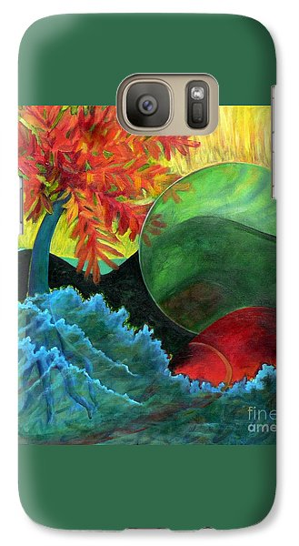Galaxy Case featuring the painting Moonstorm by Elizabeth Fontaine-Barr