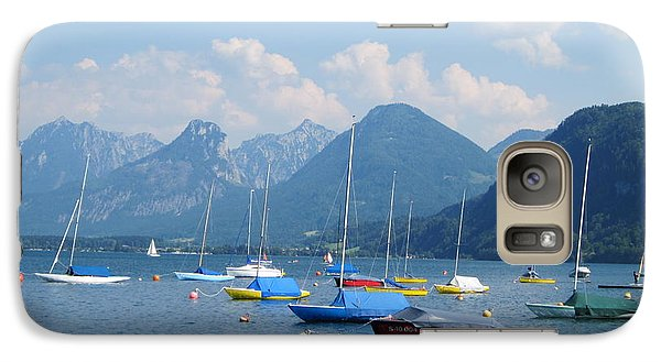 Galaxy Case featuring the photograph Moored Boats by Pema Hou