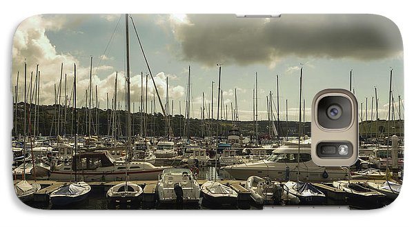 Galaxy Case featuring the photograph Moored Boats by Winifred Butler