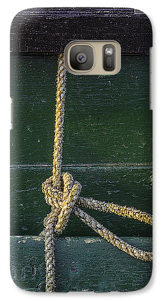 Galaxy Case featuring the photograph Mooring Hitch by Marty Saccone