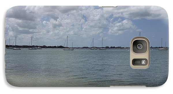 Galaxy Case featuring the photograph Mooring Sailboats by Marta Alfred