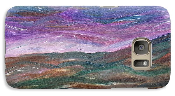 Galaxy Case featuring the painting Moorland Evening by Martin Blakeley