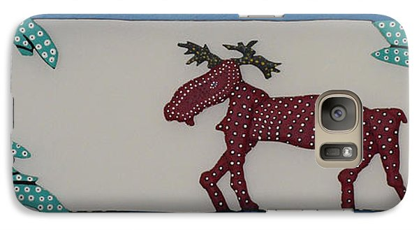 Galaxy Case featuring the sculpture Moose Coming Home For Christmas by Robert Margetts