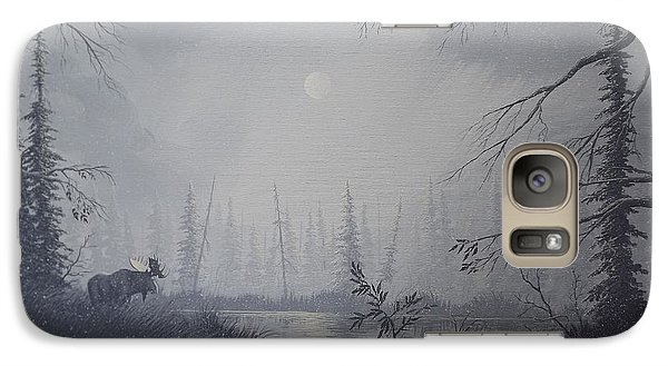 Galaxy Case featuring the painting Moose Swanson River Alaska by Richard Faulkner