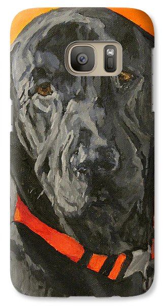 Galaxy Case featuring the painting Moose by Wendy Shoults