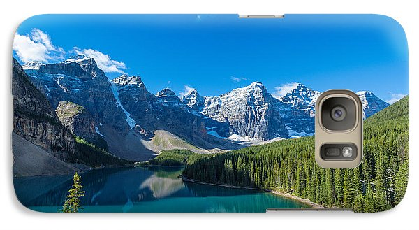 Moraine Lake At Banff National Park Galaxy Case by Panoramic Images