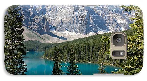 Galaxy Case featuring the photograph Moraine Lake by Chris Scroggins