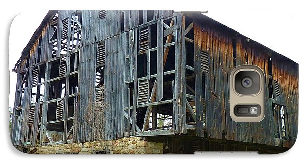 Galaxy Case featuring the photograph More Holes Less Barn by Jeanette Oberholtzer