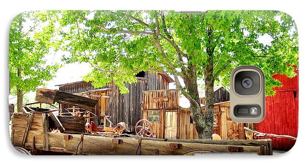 Galaxy Case featuring the photograph More Old West  by Marilyn Diaz