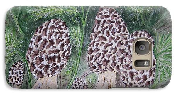 Galaxy Case featuring the painting Morel Mushrooms by Kathy Marrs Chandler