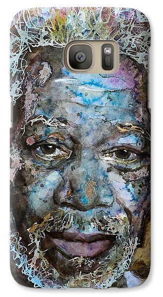 Galaxy Case featuring the painting Morgan In Blue by Laur Iduc