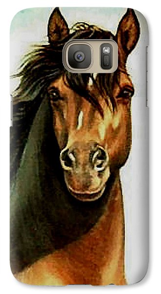Galaxy Case featuring the painting Morgan Horse by Loxi Sibley