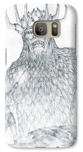 Galaxy Case featuring the drawing Morgoth And Fingolfin by Curtiss Shaffer