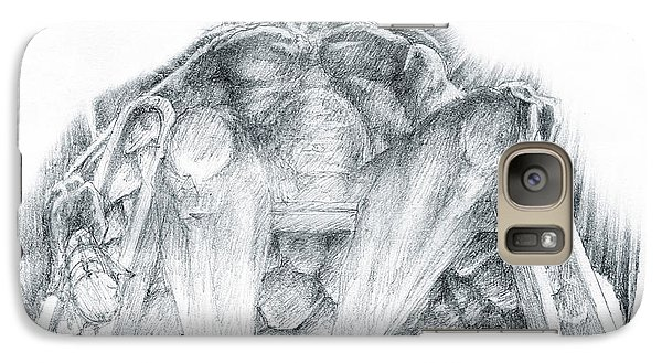 Galaxy Case featuring the drawing Morgoth Bauglir by Curtiss Shaffer