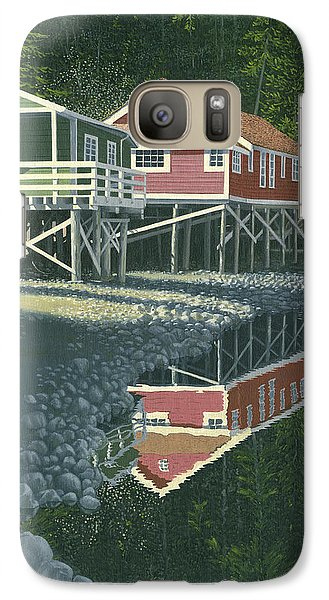 Galaxy Case featuring the painting Morning At Telegraph Cove by Gary Giacomelli