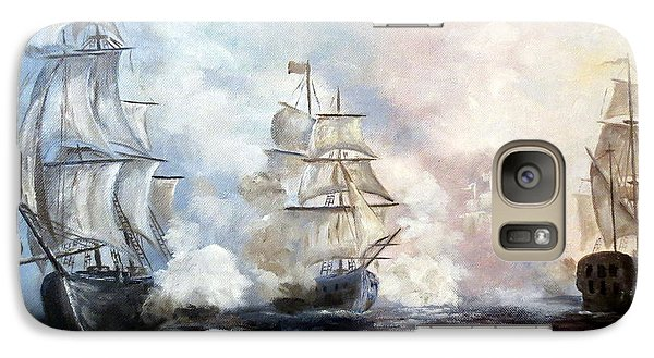Galaxy Case featuring the painting Morning Battle by Lee Piper